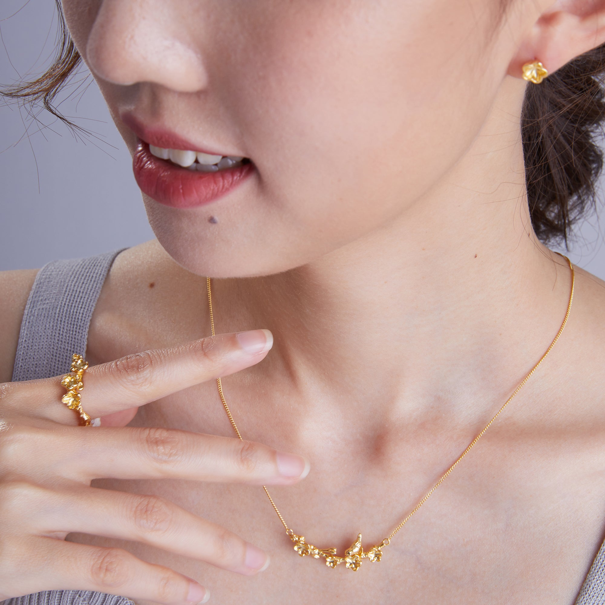 "梅花 ""金"" 項鍊 - Winter Sonnet ""Gold"" Necklace"