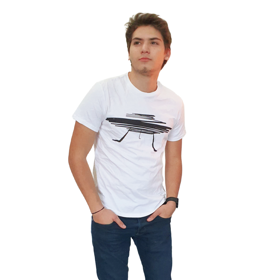 Playera Shotgun Blanca