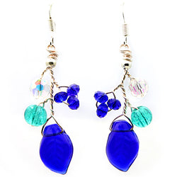 Blue Green Petal Earrings - Nurit Niskala