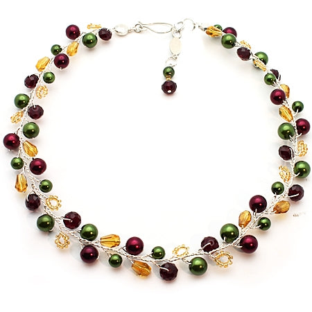 HOLIDAYS Red Green Necklace - Nurit Niskala