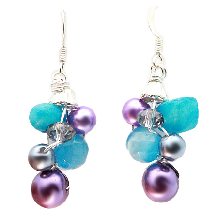 Purple and Blue Earrings - Nurit Niskala