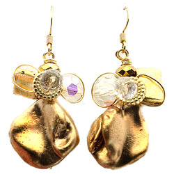 Gold Mother Of Pearls Earrings - Nurit Niskala