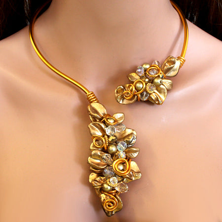 Gold Open Choker - Nurit Niskala