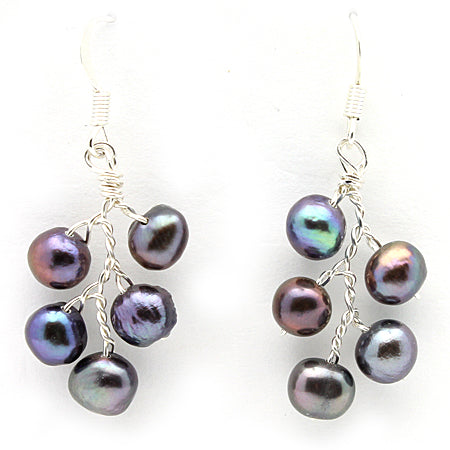 Peacock Pearl Earrings - Nurit Niskala