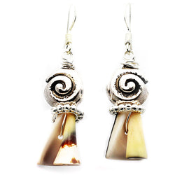 Shell Swirl Earrings - Nurit Niskala