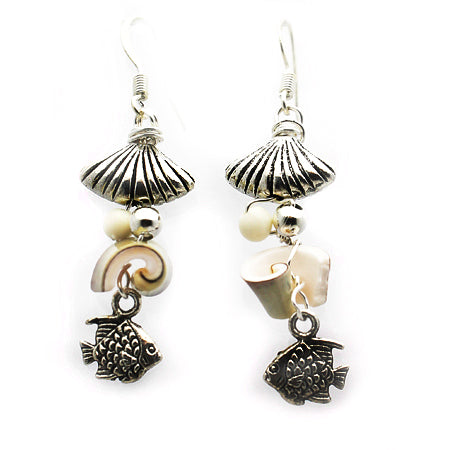 Fish & Shell Earrings - Nurit Niskala