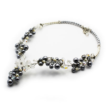Grey Hematite V Necklace