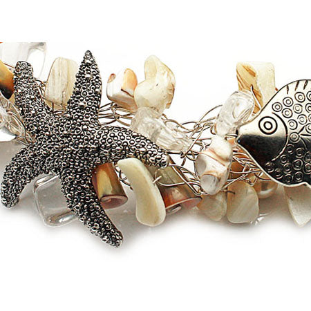 Sea Shell Statment Necklace - Nurit Niskala
