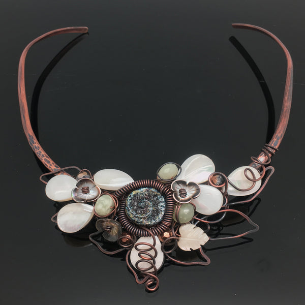 Shells & Flowers Copper Choker - Nurit Niskala