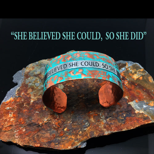 Saying Copper Patina Cuffs - Nurit Niskala
