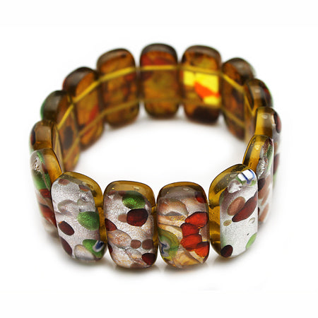 Multi Colors  Dichroic Fused Bracelet - Nurit Niskala