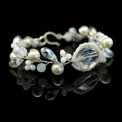 Fine Crystal and Pearl Bracelet - Nurit Niskala