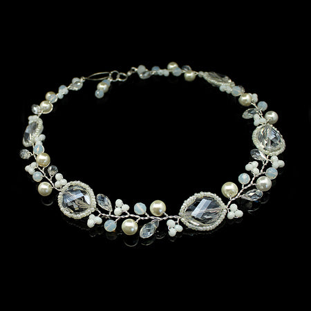 Crystal and Pearl Necklace - Nurit Niskala