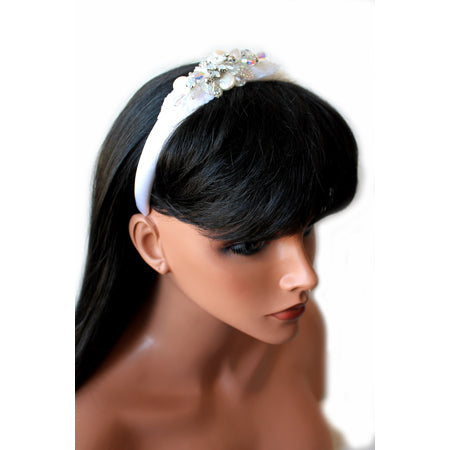 White Crystal Headband - Nurit Niskala