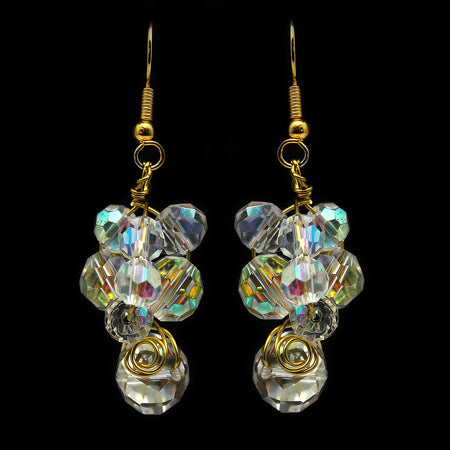 Swarovski Clear Crystal Earrings - Nurit Niskala