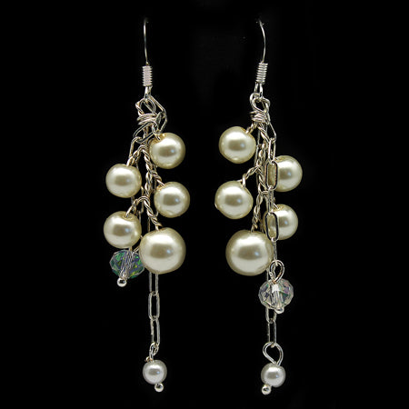 Dangly Pearl Earrings - Nurit Niskala
