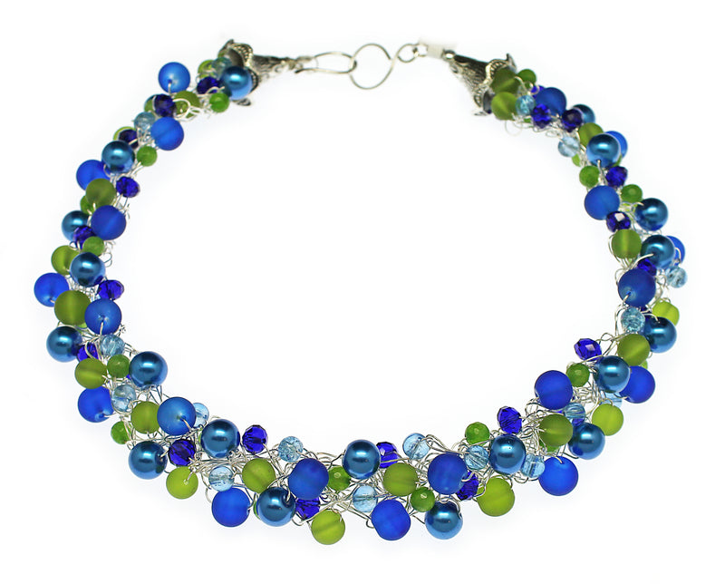 Seaglass Blue Lime Necklace - Nurit Niskala