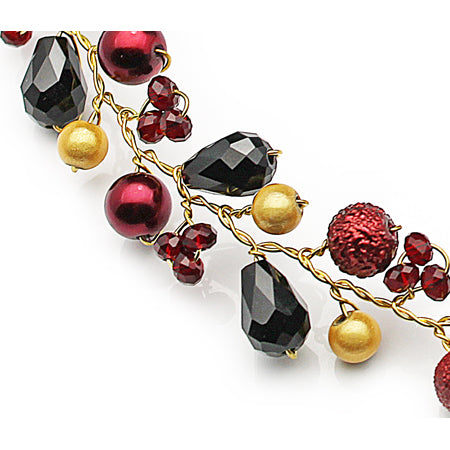 Black Red Holiday Necklace - Nurit Niskala