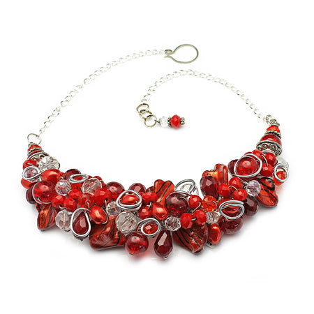 Red Orange Necklace - Nurit Niskala