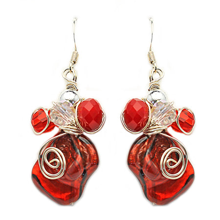 Red Earrings - Nurit Niskala