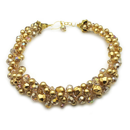 Gold Statement Necklace - Nurit Niskala
