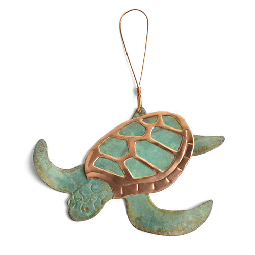 Turtle Copper Ornament