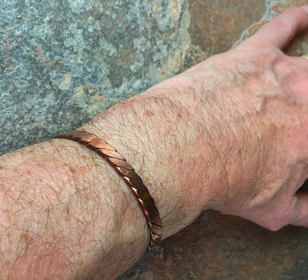 Twist Men's Cuff Pure Copper. - Nurit Niskala