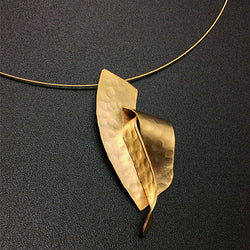 Contemporary Matte Gold Necklace*