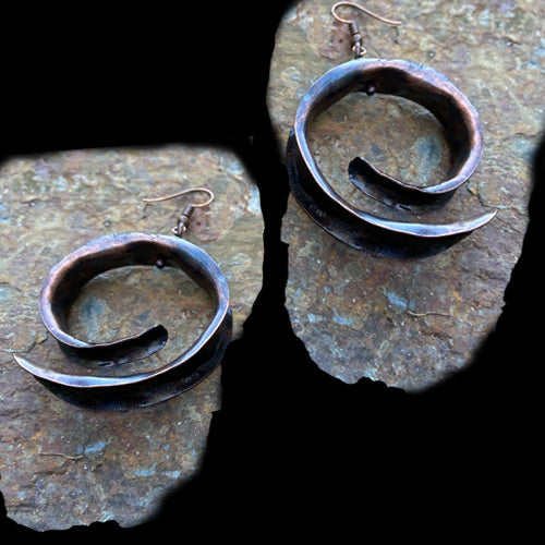 Anticlastic Copper Earrings*