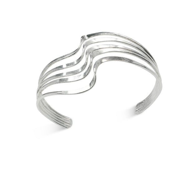Five Layer Silver Cuff - Nurit Niskala