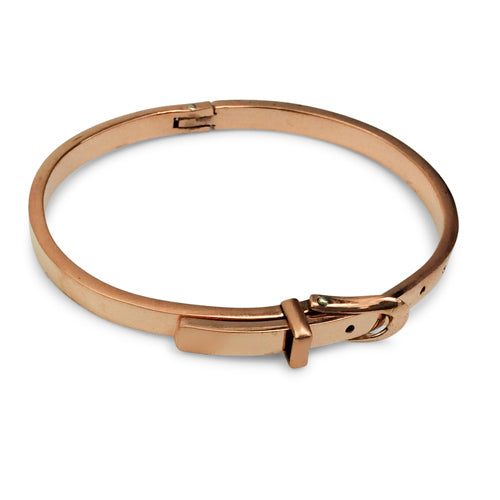 Belt Style Shiny Copper Bracelet