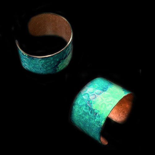Emerald Turquoise Patina Ring