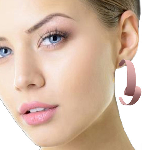 Curly Pink Earrings