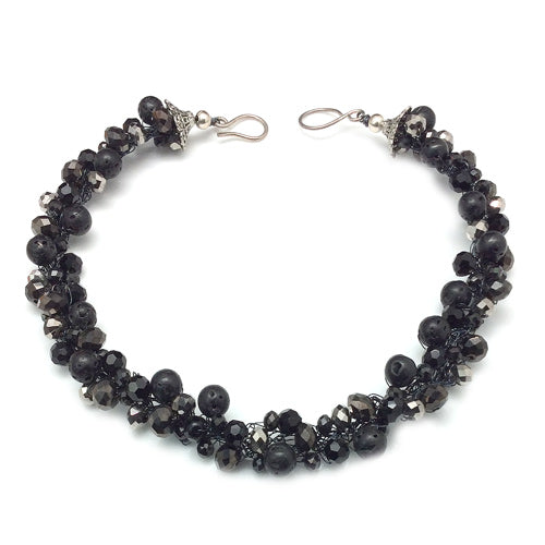 Black Nuggets Stones Necklace