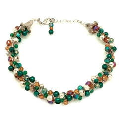 Emerald Amber Statement Necklace