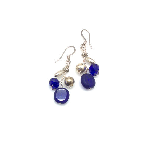 Blue Silver Earrings - Nurit Niskala