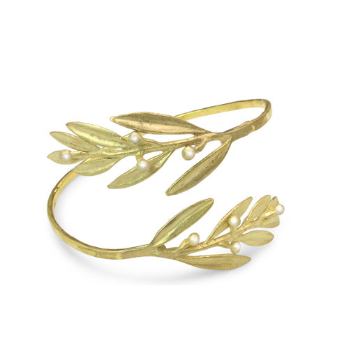 Bronze Leaves Bracelet - Nurit Niskala