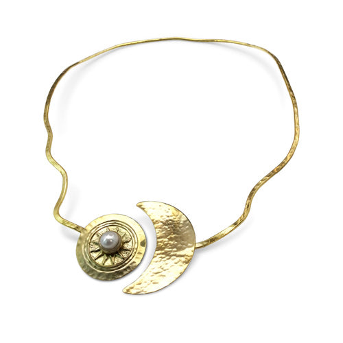Bronze Choker-The Sun & The Moon - Nurit Niskala