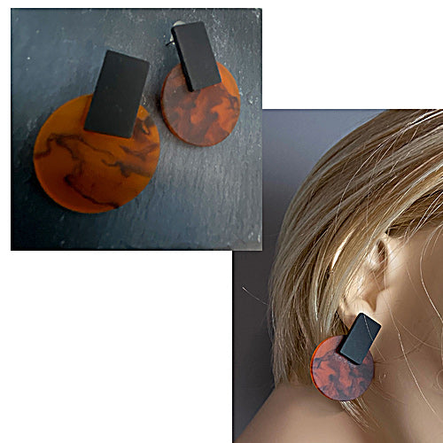 Rubber & Mix Resin Earrings - Nurit Niskala