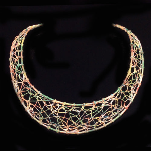 Weaving Patina Copper Chokers - Nurit Niskala