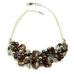 Brown Mother of Pearl Necklace - Nurit Niskala