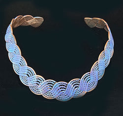 Denim Copper Weaving Choker - Nurit Niskala