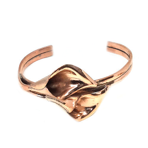 Calla Lily Copper Cuff + Earrings*