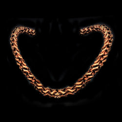 Twisty Natural Copper Choker*