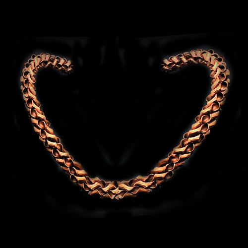 Twisty Natural Copper Choker