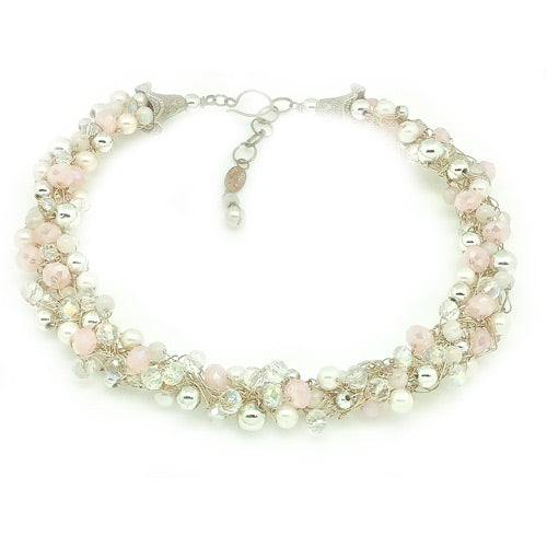 Rose Quartz Silver Necklace*