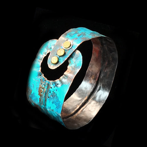 Form-Folding Turquoise Copper Cuff*