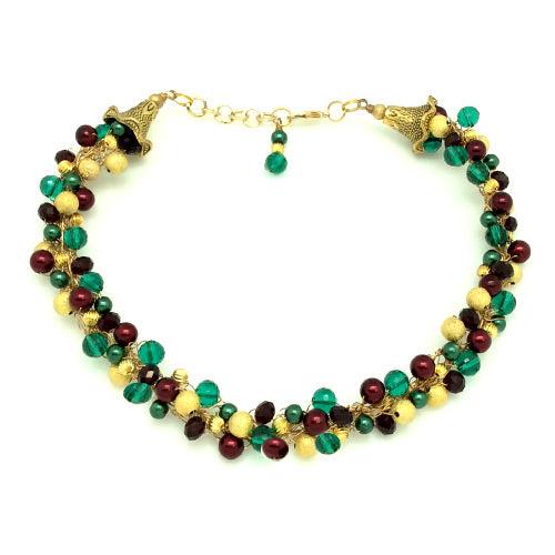 Holiday Green Red Gold Design*