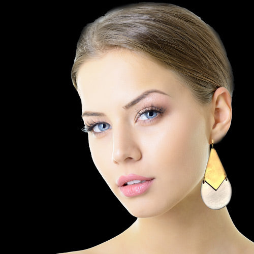 Gold-Silver Drop Earrings*
