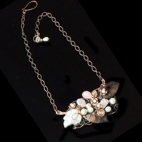Delicate Rose Quartz Copper Necklace*